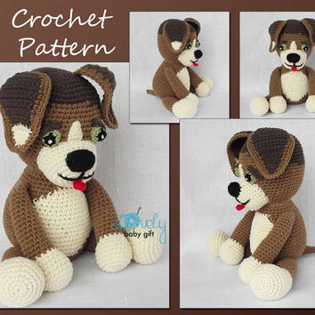 Crochet Pattern, Amigurumi Dog, Puppy, Stuffed Animal Crochet Pattern, CP-138