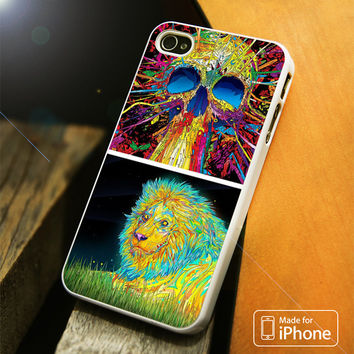 Trippy Lion and Cat iPhone 4 5 5C SE 6 Plus Case