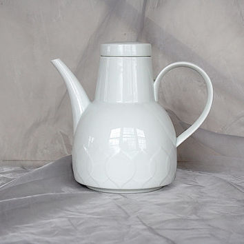 Rosenthal Coffee Pot - Vintage Rosenthal China - White Porcelain Coffee Pot - Rosenthal Lotus - Rosenthal Germany