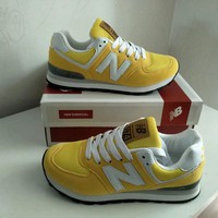 new balance 574 sport casual unisex n words retro sneakers couple running shoes