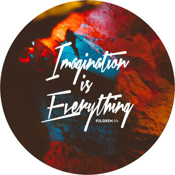 Imagination is Everything Circle Wall Decal