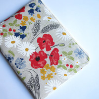 Poppies MacBook 13 sleeve with zipper, MacBook Pro 13 sleeve, MacBook Air 13 Case, MacBook Pro 13 case, MacBook sleeve, MacBook case