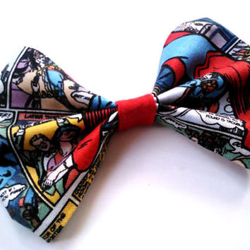 Superman Comic Hair Bow