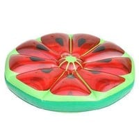 "49"" Inflatable Watermelon Fruit Slice Swimming Pool Island Lounger Raft Float"