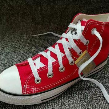 LMFUG7 Converse Chuck Taylor All Star' Unisex Sport Casual High Help Shoes Canvas Shoes Coup