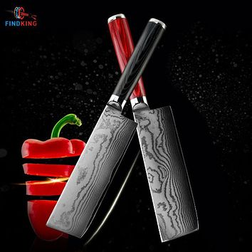 FINDKING new damascus steel blade damascus knife 6.5 inch chef knife 71 layers damascus kitchen knife
