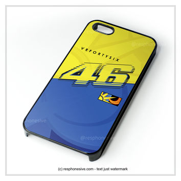 Valentino Rossi Vr46 Movistar Yamaha Motogp  iPhone 4 4S 5 5S 5C 6 6 Plus , iPod 4 5 , Samsung Galaxy S3 S4 S5 Note 3 Note 4 , HTC One X M7 M8 Case