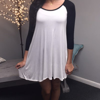 Baseball Sleeve Dress