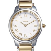 Women's Fendi 'Classico' Round Bracelet Watch, 32mm