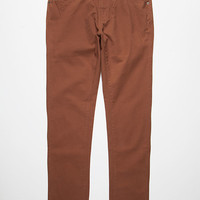 Rvca Daggers Twill Pants Coca  In Sizes