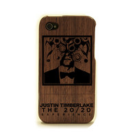 iPhone 4 wood Case justin timberlake wood case iPhone 4s, custom design, suit and tie case, justin timberlake 20 20 experience