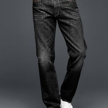 Gap Men 1969 Standard Taper Fit Jeans Antique Black Wash