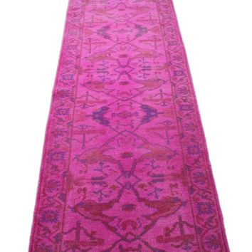3x12 Hot Pink Overdyed Runner 2782