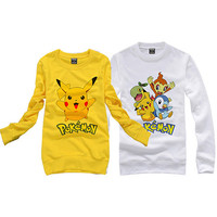 CUTE Pokemon Pikachu  Top Casual Thickening Hoodie Coat Cosplay Costume