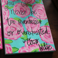 8x10 Wood Backed Lilly Pulitzer Inspired by PreppyPaintedPrints