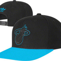 Miami Heat adidas Originals Hyper Color Neon Snapback Hat - Neon Blue