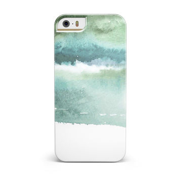Greenish Watercolor Strokes iPhone 5/5S/SE INK-Fuzed Case