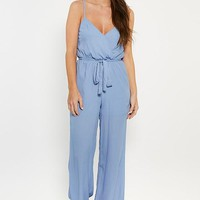 Surplice Jumpsuit with Waist tie