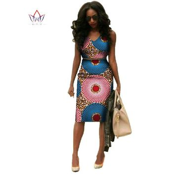 African Dresses For Women Dashiki Plus Size Fashion African Wax Print