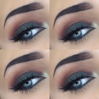 Image: Eye makeup, eye shadow, makeup, smokey eye, autumn, fall, look ...