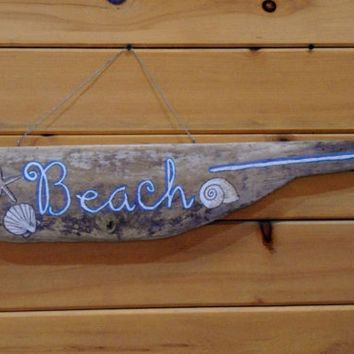 WINTER SALE, Driftwood Beach Sign, Hanging Sign, Decor