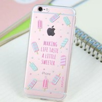 Cute Ice-cream Case for iPhone 5s 5se 6 6s Plus Gift 318-170928