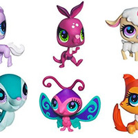 Littlest Pet Shop Exclusive Collector Set of 6 with Horse