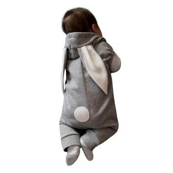 MUQGEW Bodysuit Baby Boy Girl Character Cotton Rabbit Hooded Jumpsuit Outfit Clothes Funny Baby Clothes Bodysuit Bebes QZ06