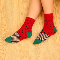 Striped Watermelon Socks