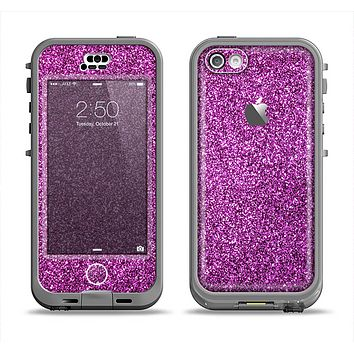 The Purple Glitter Ultra Metallic Apple iPhone 5c LifeProof Nuud Case Skin Set