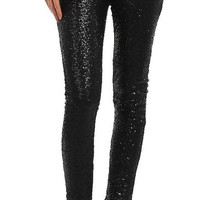 Sequin Pants - Black