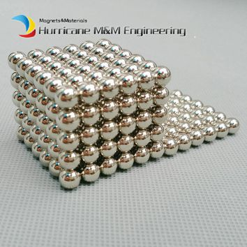 1 Set NdFeB Magnet Balls 7mm Diameter Nikle Color Strong Neodymium Sphere D7 ball Permanent Rare Earth Magnets 216pcs/set