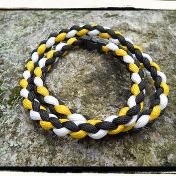 Bruins Paracord Necklace