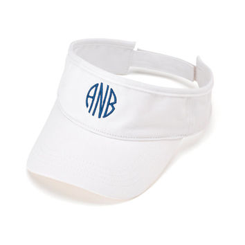 Ladies Monogrammed Visor