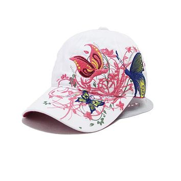 New Fashion China Style Baseball cap Fashion Leisure Flowers Hats Vintage Adjustable Baseball Hat Cap For Women 2 colors