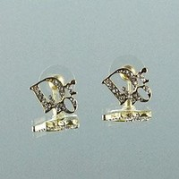 8DESS Dior Women Fashion Chic Accessories Fine Jewelry Earrings