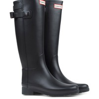 Hunter Black Back Strap Rain Boot - Black Back Strap Rain Boot