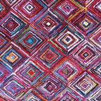 7009 Multi-Color Colorful Contemporary Area Rugs