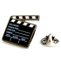 Clapperboard Director Film Cast Gift Movie Lapel Pin Tack Tie