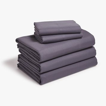 100% Cotton Gray Sheet Set