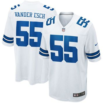 Men's Dallas Cowboys Leighton Vander Esch Nike White Game Jersey