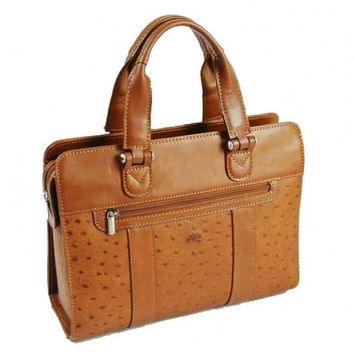 Tony Perotti Italian Vegatale leather ladies handbag TP-96710 Cognac