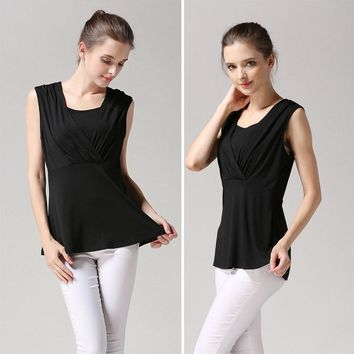 Sleeveless Nursing Maternity Shirts