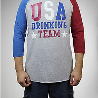 USA Drinking Team Raglan Tee - Spencer's