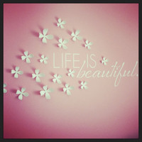 Life is beautiful. Custom Vinyl Wall Decal.
