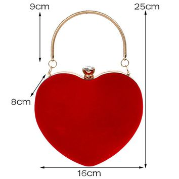 Heart Shaped Diamond Purse
