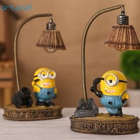 Artpad Despicable Me Minion Night Light Home Decor Fixture Resin Lamp for Baby Kid Childern Room LED Minions Night Light