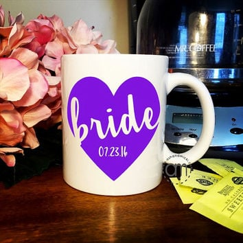 Bride Gift, Bride Coffee Mug, Wedding Gift, Bridal Shower Gift, Engagement Gift, Wedding Gift