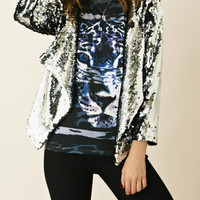 S.Y.L.K. Cropped Black & Silver Sequin Jacket