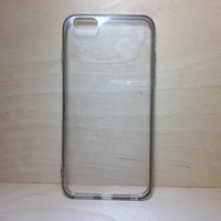 For Apple iPhone 6 Plus (5.5 inches) Black Silicone Bumper and Clear Hard Acrylic Case